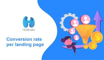 Conversion rate per landing page