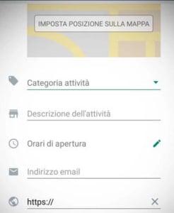 Dettaglio attività profilo whatsapp