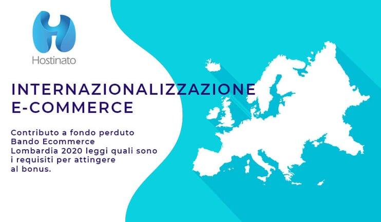 Internazionalizzazione E-Commerce bando 2020