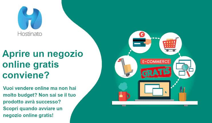 aprire un negozio online gratis conviene