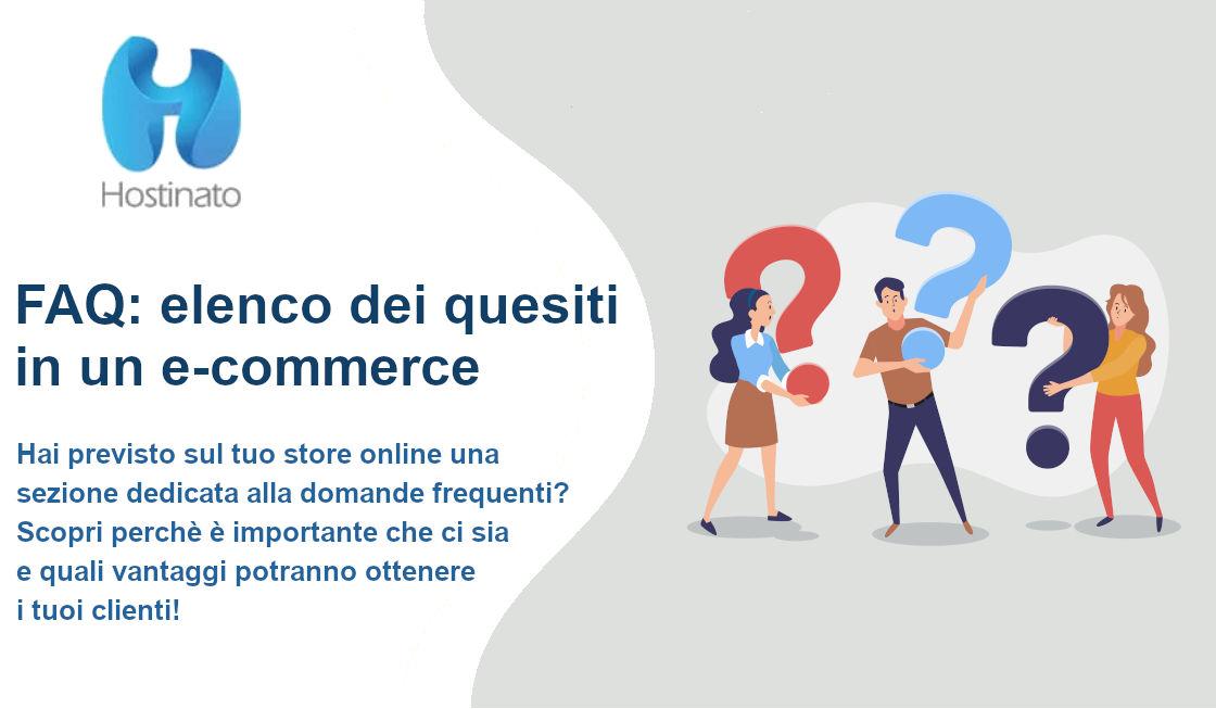 FAQ domande ecommerce