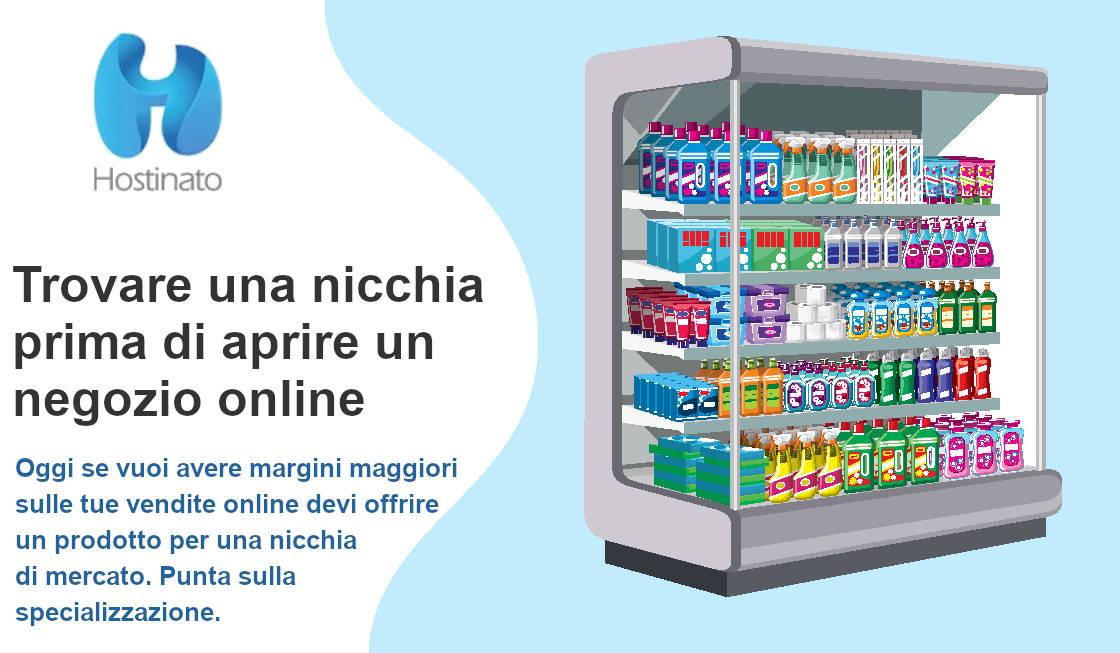 nicchia aprire negozio online