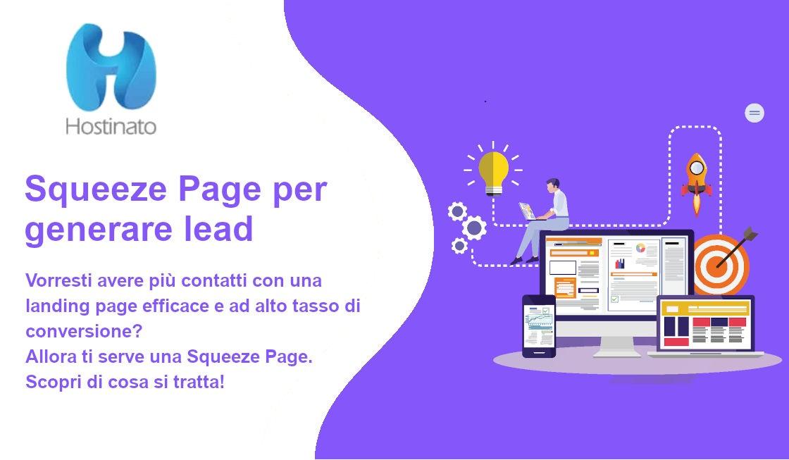 squeeze page per generare lead