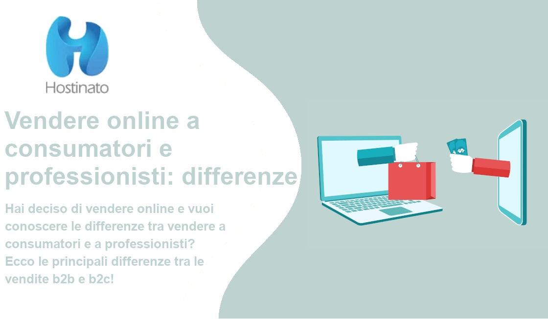 vendere online consumatori e professionisti